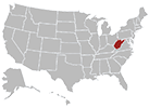 West Virginia map