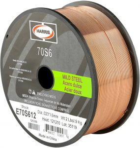 Harris E70S6F8 ER70S-6 MS Spool with Welding Wire