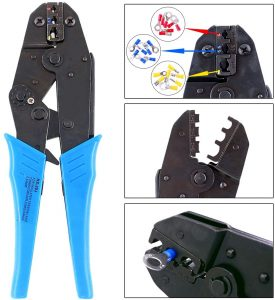 Hilitchi Professional Insulated Wire Terminals Connectors Ratcheting Crimper Tool